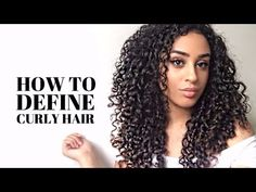 HOW TO DEFINE NATURALLY CURLY HAIR | SHINGLING METHOD - YouTube