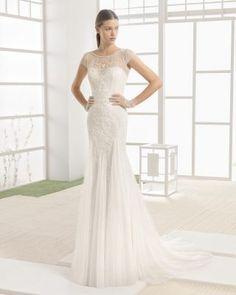 Abito a sirena Rosa Clarà - Italian style wedding dress