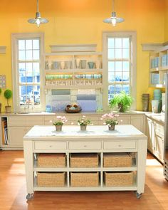 Martha Stewart show craft studio set. I wish I had the natural lighting and space.  This is beautiful.