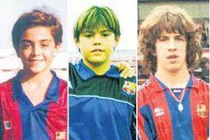Todo un camino juntos. Compañeros y amigos. Xavi, Valdés y Puyol en sus inicios en el Barça