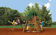 It's a kid kingdom! The PlayStar® Varsity Factory-Built Playset has everything you need to keep your kids happy.