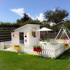 We are on the hunt for a cubby house for Christmas and of course looking at some inspo for decor! Does anyone have any recs for great manufacturers of cubbies? Kids Outdoor Play, Backyard For Kids, Outdoor Fun, Outdoor Spaces, Outdoor Decor, Backyard Playhouse, Backyard Playground, Cubby Houses, Play Houses