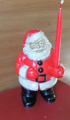 Vintage Santa Blow Mold by PixieVintageHome on Etsy