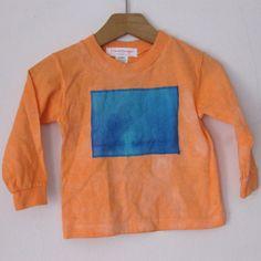 Orange Hand Dyed Cotton TShirt  size 124 by carolnesperstudio, $22.00