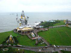 World's second tallest statue of Lord Shiva (123 feet) on the shores of Arabian Sea at Murudeshwar, Karnataka, India.