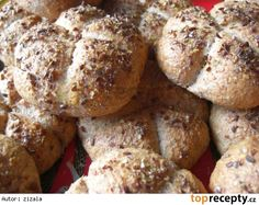 Wholemeal kaiserky - Chlieb a pečivo - Russian Russian Recipes, Bread Baking, Baked Potato, Bread Recipes, Ham, Healthy Life, French Toast, Muffin, Potatoes