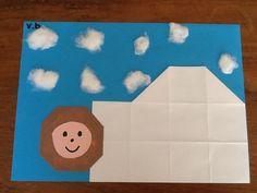 Eskimo in iglo
