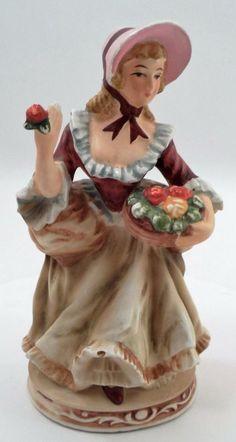 Charming Vintage Napco C-7843 Eliza Doolittle My Fair Lady Figural Girl Planter
