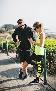 Great Fitness Ideas That Get You Into Shape. Having a higher level of fitness is a fantastic goal to have. Workout Attire, Workout Wear, Athletic Outfits, Athletic Wear, Sport Fashion, Fitness Fashion, Fashion Black, Fitness Outfits, Nike Golf