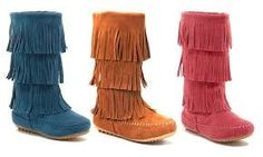 0bf009dfe9e Shoes of Soul Girls  Fringe Boots - Faux-suede boots - Three layers of  fringe - Warm and comfortable - Fits true to size