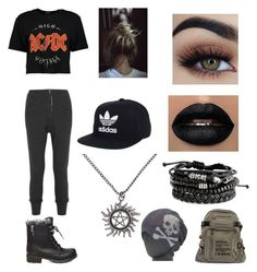 """""""Pretty Girl"""" by mercy123 ❤ liked on Polyvore featuring Boohoo, Isabel Marant, Steve Madden, adidas, Hot Topic and Grace"""