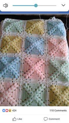 Crochet Baby Blanket Free Pattern, Crochet Squares Afghan, Baby Knitting Patterns, Baby Patterns, Crochet Bebe, Crochet For Kids, Diy Crochet, Manta Crochet, Crochet Baby Clothes