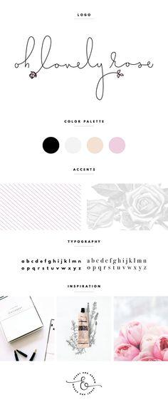 oh lovely rose brand board // by Heart & Arrow Design