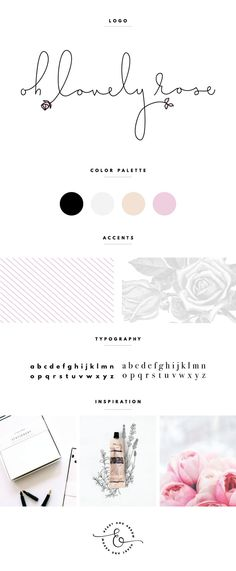 oh lovely rose brand board  //  by Heart & Arrow Design