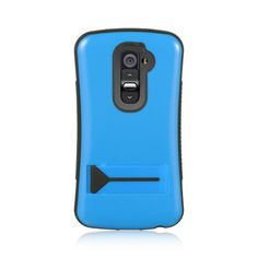 PREMIUM HYBRID PROTECTOR WITH STAND CASE FOR LG G2 - BLUE $8.95 www.myphonecase.com #lgg2, #lgg2case, #lgoptimusg2, #lgg2att, lgg2sprint, #lgg2tmobile