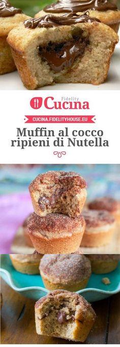 Muffin al cocco ripieni di Nutella