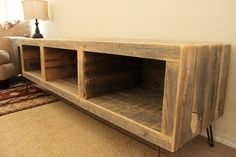 Reclaimed Wood Media Console by AtlasWoodCo on Etsy