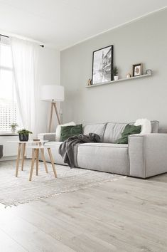 The Anatomy of the Perfect Scandinavian Living Room Sage Living Room, Feature Wall Living Room, Home And Living, Living Room Decor, Green Living Rooms, Feature Walls, Scandinavian Living, Living Room Inspiration, Apartment Living