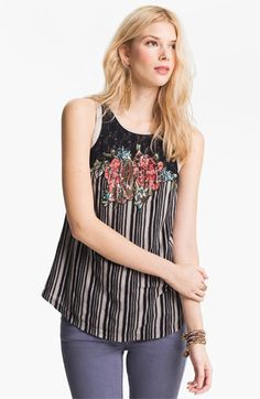Free People 'Electric Juxtaposition' Appliqué Tank available at #Nordstrom