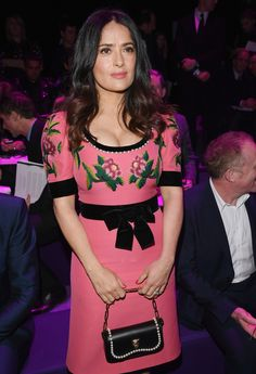 All the Celebrities Sitting Front Row at Milan Fashion Week - Salma Hayek from InStyle.com