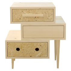 My name is NovaTwo. I was born from the inspiration by 60s and 70s. Have a look on my legs that getting slimmer toward the bottom. They gave that specific vintage character. At the same time I'm very fashionable – thanks to OSB that has been placed on the fronts of drawers. If you're looking for an eclectic mix of modernity and past times, I'm an ideal partner for you. I can live with you in your living room, hall, office or bedroom.