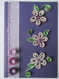 Quilling flowers (purple)