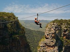 Zip Line in Durban, South Africa. Ziplining, or as we call it in South Africa, foefie slides, are similar to a flying fox - Dirty Boots Adventure Activities, Adventure Tours, Family Adventure, Ocean Sounds, Kwazulu Natal, Paragliding, Rafting, Beautiful Beaches, South Africa