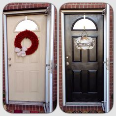 DIY paint your front door black.