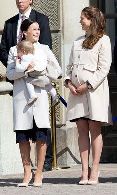 Princess Leonore in the arms of Sofia Hellqvist.