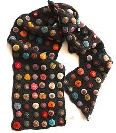 Crochet, Applique & Stitchwork Scarf by Paris Designer, Sophie Digard