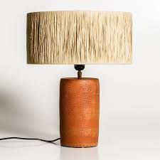 Elevate your decoration game with designs and shapes as diverse and varied; this selection can provide your room a unique look. Diy Light Fixtures, Woven Shades, Led Desk Lamp, Home Lighting, Lighting Ideas, Modern Lighting, Light Shades, Terracotta, Home Accessories
