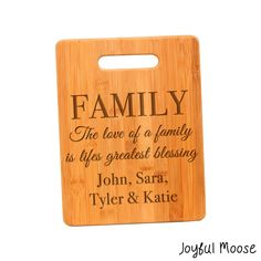 c48d486c7c73 New to JoyfulMoose on Etsy  Personalized Cutting Board - Personalized  Mothers Day Gift - Family
