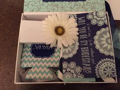 Navy Mint Wedding, Will You Be My Bridesmaid