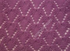 Beautiful flower lace. Site with many knitting pattern with charts.