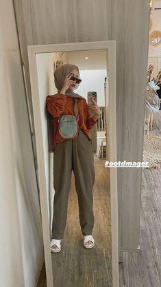 Modern Hijab Fashion, Street Hijab Fashion, Hijab Fashion Inspiration, Muslim Fashion, Casual Hijab Outfit, Stylish Hijab, Hijab Fashionista, Mocca, Mode Hijab