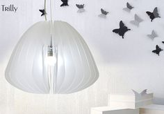 Trilly pendant lamp white satin methacrylate by #DDPlus