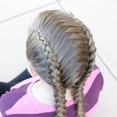 How to make Criss Cross Dutch Braids Braided Hairstyles Tutorials, Easy Hairstyles, Pretty Hairstyles, Little Girl Hairstyles, Haircuts For Long Hair, Hair Videos, Dutch Braids, Dream Hair, Hair Designs