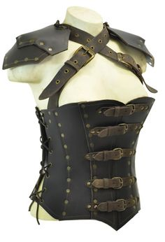 Armor corset - Brown (front)