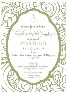 Bridesmaids Luncheon Invitation by camaddisondesigns on Etsy, $13.00