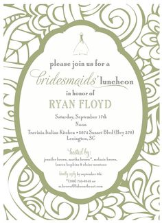 Bridesmaids Luncheon Invitation by camaddisondesigns on Etsy, $13.00