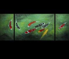 Koi Fish Painting Koi Painting Fish Painting Wall Art Décor