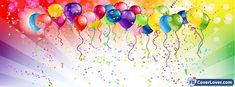 Cover Photo Maker, Fb Cover Photos, Happy Birthday Balloons, Fb Covers, Over The Rainbow, Facebook Instagram, Color Street, Celebrations, Wallpapers
