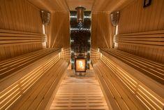 KIVI-IKI (15-30 m³) – Ikikiuas Sauna Design, Finnish Sauna, Steam Sauna, Sauna Room, Western Red Cedar, Extra Seating, Garden Furniture, Simple Designs, Blinds