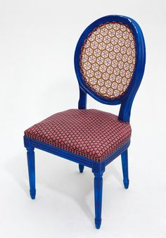 Up-cycled chairs using traditional Bamboo weaving with contemporary colours and design by W Would LOVE a mix of these chairs as dining chairs. A girl can dream!