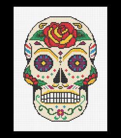 Sugar Skull - Day of the Dead Cross Stitch Pattern