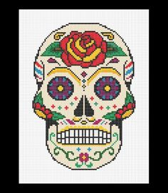 Sugar Skull - Day of the Dead Cross Stitch Pattern