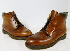 Used Womens Cole Haan Size 6 B Brown Leather Boots Shoes Made in USA Vibram  #ColeHaan #FashionMidCalf #Casual @ebay #colehaan #ebay #vintageboots #vintageshoes #shoes #boots #leather #madeinusa #usa #casual #sellmyboots @etsy