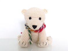 Yellow pink and sparkly arthur the polar bear crochet animals crochet pattern baby polar bear tony by forevertandm on etsy dt1010fo