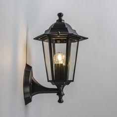 Aplique de exterior farol NEW ORLEANS negro - Preciosa lámpara de estilo rústico para exterior, en aluminio lacado en negro. Este modelo de la serie NEW ORLEANS es ideal para iluminar el número de la calle, un jardín o una terraza.