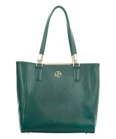 Loving this Forrest Green Orlina Leather Tote on #zulily! #zulilyfinds